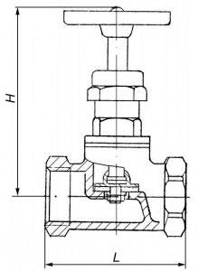 Вентиль бронзовый 15б1п схема